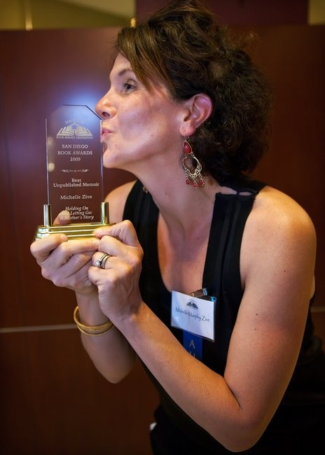 Michelle with her beautiful award!